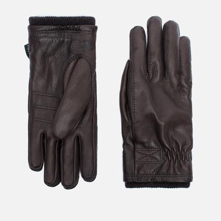 Мужские перчатки Hestra Deerskin Swisswool Rib Cuff Dark Brown