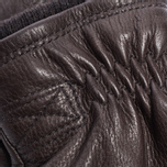 Мужские перчатки Hestra Deerskin Swisswool Rib Cuff Dark Brown фото- 2