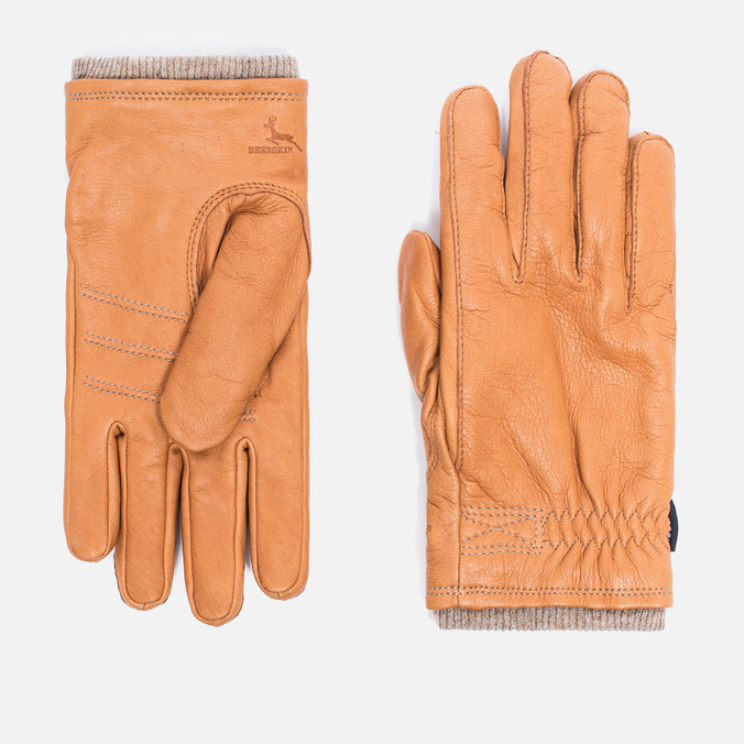 Мужские перчатки Hestra Deerskin Swisswool Rib Cuff Cork