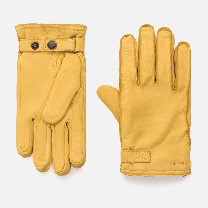 Мужские перчатки Hestra Deerskin Wool Terry Natural Yellow