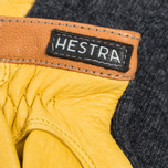 Мужские перчатки Hestra Deerskin Wool Tricot Grey/Yellow фото- 2