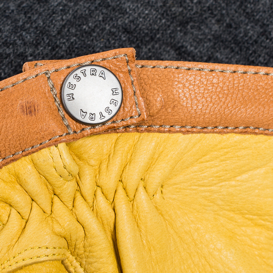 Мужские перчатки Hestra Deerskin Wool Tricot Grey/Yellow