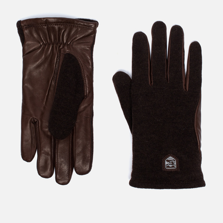 Hestra Hairsheep Wool Tricot Men's Gloves Espresso/Dark Brown