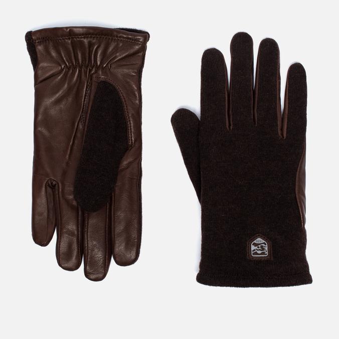 Hestra Hairsheep Wool Tricot Men's Gloves Espresso/Dark Brown