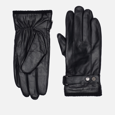 Мужские перчатки Peaceful Hooligan Leather Black