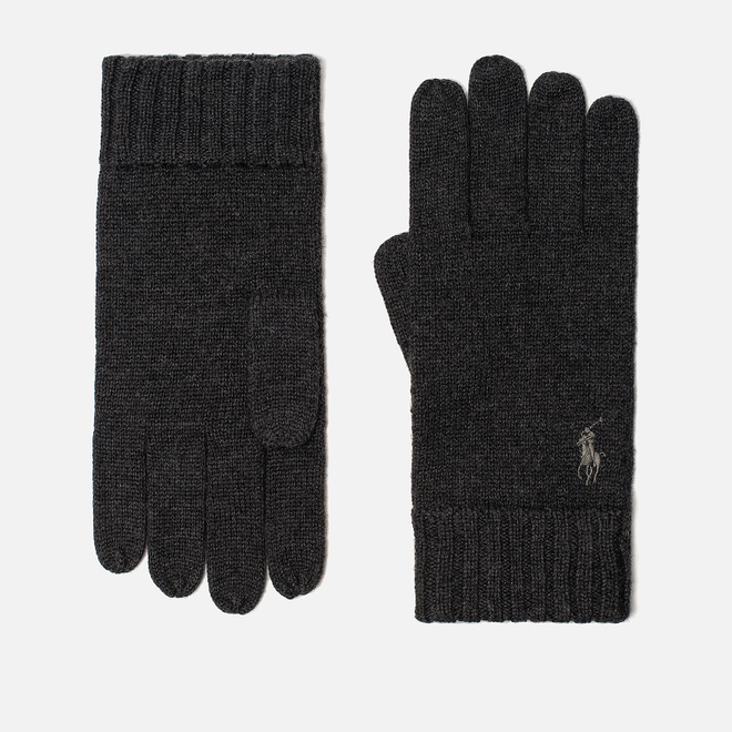 Перчатки Polo Ralph Lauren Merino Wool Dark Charcoal Heather