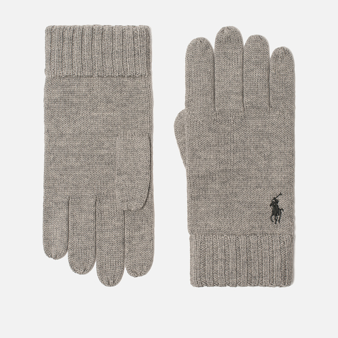 Перчатки Polo Ralph Lauren Merino Wool Fawn Charcoal Heather