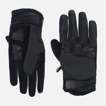 Мужские перчатки Stone Island Soft Shell Velcro Closure Black