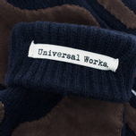 Мужские перчатки Universal Works Grip Knit Wool Navy фото- 3