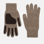Universal Works Grip Knit Wool Men's Gloves Sand photo- 0