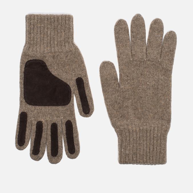 Universal Works Grip Knit Wool Men's Gloves Sand