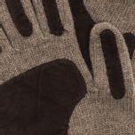 Universal Works Grip Knit Wool Men's Gloves Sand photo- 1