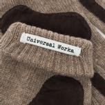 Universal Works Grip Knit Wool Men's Gloves Sand photo- 3