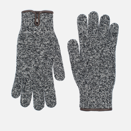 Universal Works Knitted Men's Gloves Grey Melange