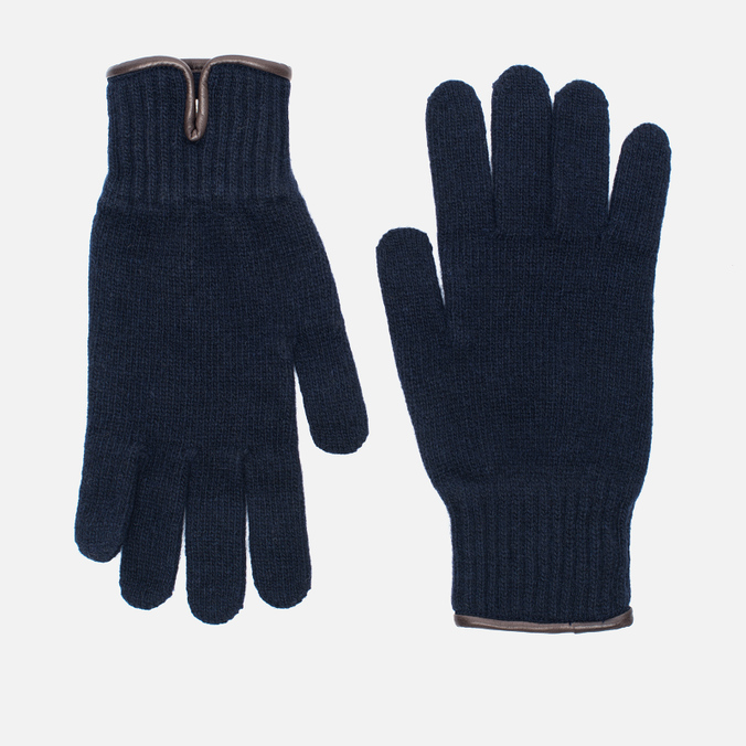 Мужские перчатки Universal Works Knitted Wool Navy