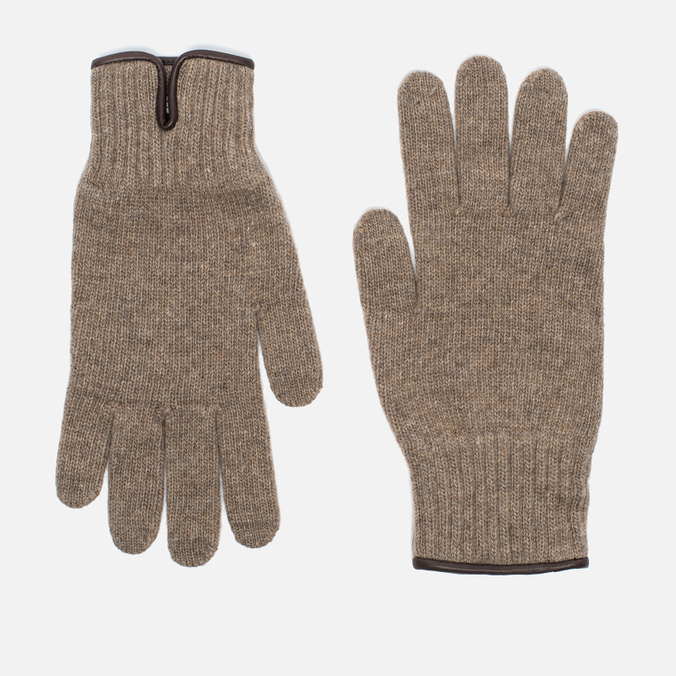 Universal Works Knitted Wool Men's Gloves Sand