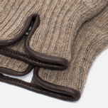 Universal Works Knitted Wool Men's Gloves Sand photo- 1