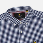 Мужская рубашка Lyle & Scott Gingham Navy фото- 1