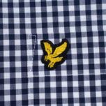 Мужская рубашка Lyle & Scott Gingham Navy фото- 2