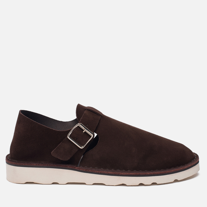 Мужские сандалии Fracap D152 Leather Suede Moro/Cristy White