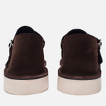 Мужские сандалии Fracap D152 Leather Suede Moro/Cristy White фото- 3