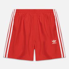 Мужские шорты adidas Originals 3-Stripe Swim Lush Red фото- 0