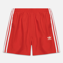 Мужские шорты adidas Originals 3-Stripe Swim Lush Red
