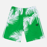 Мужские шорты adidas Consortium x Pharrell Williams BBC Palm Tree Shorts White/Green фото- 0