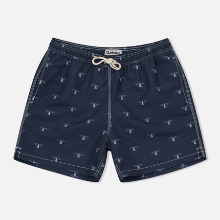 Мужские шорты Barbour Beacon Print Swim Navy