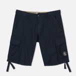 Мужские шорты C.P. Company Cotton And Linen Cargo Black Iris фото- 0