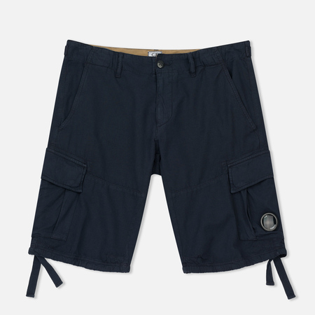 Мужские шорты C.P. Company Cotton And Linen Cargo Black Iris