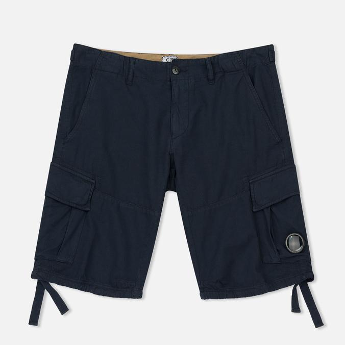 Мужские шорты C.P. Company Cotton And Linen Cargo Black Iris
