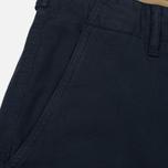 Мужские шорты C.P. Company Cotton And Linen Cargo Black Iris фото- 3