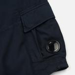 Мужские шорты C.P. Company Cotton And Linen Cargo Black Iris фото- 4