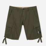 Мужские шорты C.P. Company Cotton And Linen Cargo Dark Olive фото- 0