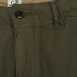 Мужские шорты C.P. Company Cotton And Linen Cargo Dark Olive фото- 2