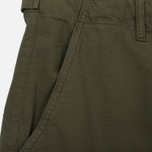 Мужские шорты C.P. Company Cotton And Linen Cargo Dark Olive фото- 3