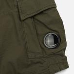 Мужские шорты C.P. Company Cotton And Linen Cargo Dark Olive фото- 4