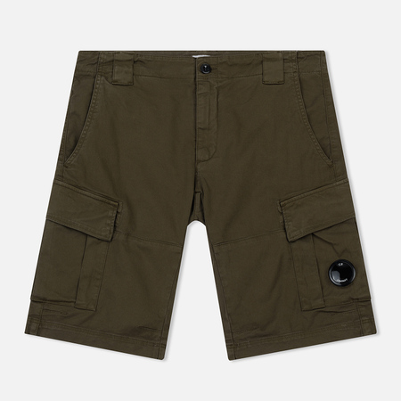 Мужские шорты C.P. Company Garment Dyed Stretch Gabardine Cargo Lens Beech