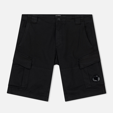 Мужские шорты C.P. Company Garment Dyed Stretch Gabardine Cargo Lens Black