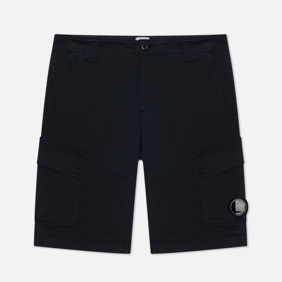 Мужские шорты C.P. Company Garment Dyed Stretch Sateen Cargo Total Eclipse