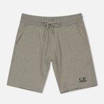Мужские шорты C.P. Company Print Logo Sweat Bermuda Grey Melange фото- 0
