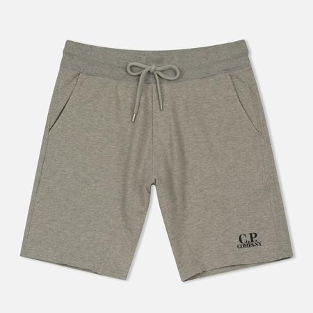 Мужские шорты C.P. Company Print Logo Sweat Bermuda Grey Melange