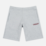 Мужские шорты Cahrartt WIP College Sweat 9.1 Oz Grey Heather/Cordovan фото- 0