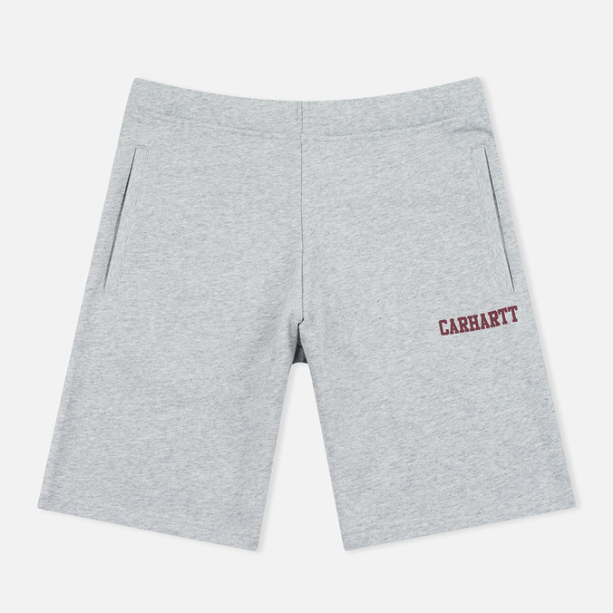 Мужские шорты Carhartt WIP College Sweat 9.1 Oz Grey Heather/Cordovan