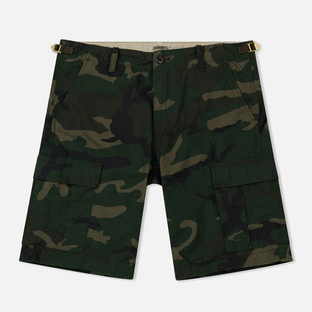 Мужские шорты Carhartt WIP Aviation Camo Combat Green Rinsed
