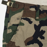 Мужские шорты Carhartt WIP Aviation Columbia Ripstop 6.5 Oz Camo 313 Green фото- 2