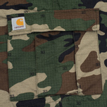 Мужские шорты Carhartt WIP Aviation Columbia Ripstop 6.5 Oz Camo 313 Green фото- 4