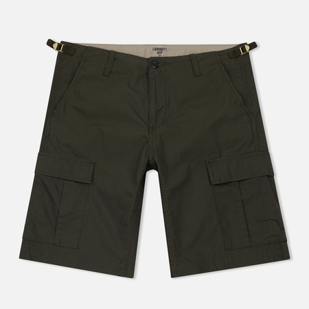 Мужские шорты Carhartt WIP Aviation Columbia Ripstop 6.5 Oz Cypress Rinsed