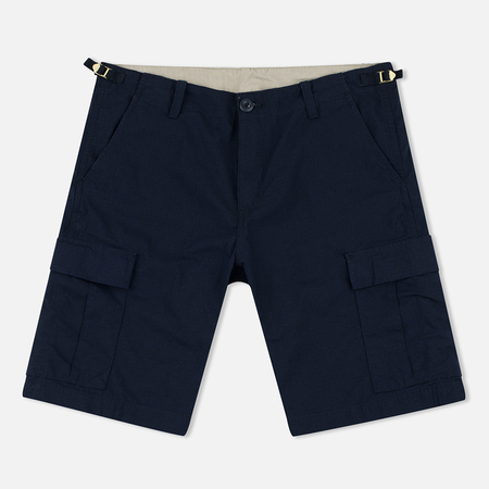 Carhartt WIP Aviation Columbia Ripstop 6.5 Oz Men`s Shorts Navy Rinsed